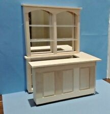 Dollhouse Miniature Small Pub, Bar & Mirrored back set unfinished basswood 1:12