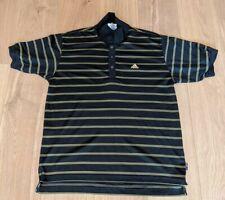New listing Vintage Adidas 90's Men's Golf Polo Shirt Large Climalite Black & Golf Striped