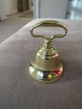 """Vintage Solid Brass Bell Heavy Simple Elegant - 4"""" x 3"""" Don't Miss!"""