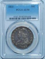 1833 PCGS AU50 Capped Bust Half Dollar
