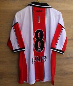 SOUTHAMPTON 1999/2001 HOME FOOTBALL SHIRT JERSEY SAINTS VINTAGE ''I 8 POMPEY''