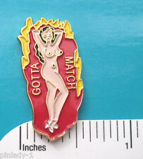 GOTTA MATCH WWII nose art -  hat pin , lapel pin , tie  , hatpin GIFT BOXED