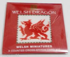 WELSH DRAGON -Cross Stitch Card KIT- Textile Heritage