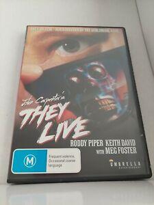 They Live 1988 Region 4 DVD John Carpenter Alien Violence FREE SHIPPING 💯 % +fb