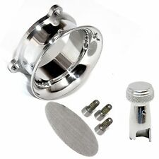 S&S E G Carb Polished Billet Velocity Stack and Classic Choke Knob