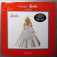 HOLIDAY BARBIE christmas ORNAMENT american greetings 25TH ANNIVERSARY aniversary