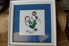 Soccer kid's room decor, reproduction, signed, small, by Dealer, open edition