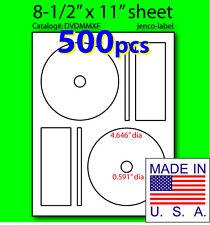 DVDMMXF, 500 CD/DVD Labels Memorex Compatible Full Face