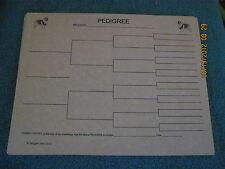Keeshond Blank Pedigree Sheets Pack 10 FREE SHIPPING IN USA dog