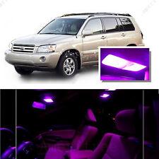 For Toyota Highlander 2008-2015 Pink LED Interior Kit + Pink License Light LED