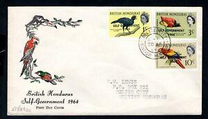 British Honduras - 1964 Birds Self Government Overprints First Day Cover