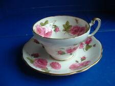 Stunning Vintage Foley China Century Rose Tea Cup & Saucer