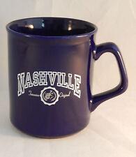 Nashville Coffee Mug Vacation Souvenir Tennessee Original M Ware Navy Blue