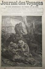 JOURNAL DES VOYAGES XIXéme N° 249 GRAVURE POLE NORD MEDECINS AMPUTATION 1882