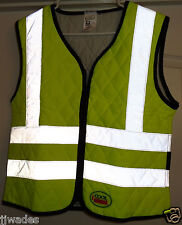 Cool Medics MEDIUM Safety Yellow Contractors Cooling Vest w/ Reflective Stripes