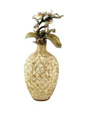 "JAY STRONGWATER MAYFIELD ORCHID BRANCH 9"" TALL PERFUME BOTTLE SWAROVSKI NEW BOX"