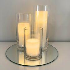 Wedding Table Centrepiece - Glass Vases -  Set of 3 - 15,22,27cm