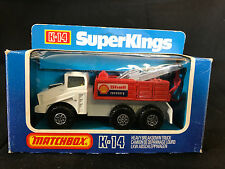Matchbox Superkings K-14 Diecast Toy Shell Recovery Truck In Original Box