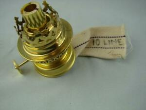 NEW POLISHED BRASS KOSMOS 10''' GAUDARD OIL LAMP BURNER WITH COLLAR AND WICK