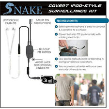Quick Release SNAKE Ipod-Style Earpiece for Harris / Macom Jaguar (See List)