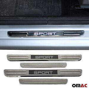 Chrome Door Sill Cover Illuminated Sport Scuff Plate 4 Pcs for Kia K900 Optima