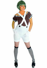 CHARLIE AND THE CHOCOLATE FACTORY UMPA LUMPA SIZE 16/18 WITH WIG   FREE P+P
