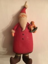 Vintage, Unused, Medium Santa Claus Candle To Match Small Place Setting Candles
