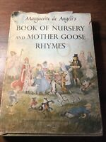 Marguerite de Angeli's Book of Nursery and Mother Goose Rhymes (1954 Hardcover)