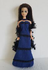 DAWN DOLL CLOTHES  Blue GOWN, Black BOA & JEWELRY HM Fashion NO DOLL dolls4emma