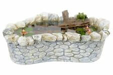 Fiddlehead Fairy Garden Miniature Frog and Lily Pad Pond