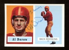 Al Dorow Signed 1994 Topps 1957 Archives Football Card Autographed Redskins