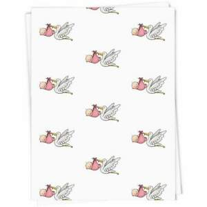 'New Baby Girl' Gift Wrap / Wrapping Paper (GI025095)