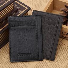 Ultra-Fin Mini cuir carte de crédit Porte-carte d'identité Porte - BILLETS