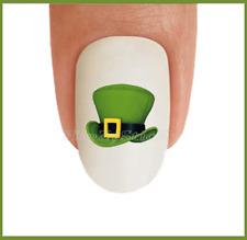 Nail Art St Patricks Day #25 Clover Leprechan Hat WaterSlide Nail Decal Transfer