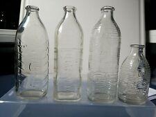 4 - Vintage Glass Baby Bottles - 3 - 8 Oz Size & 1 - 4 Oz Size