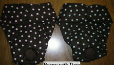 Dots on Brown Panty Italian Greyhound Xolo Maltese Chinese Crested 2 Dog Diaper