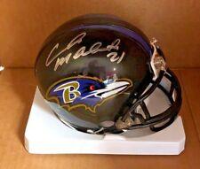 CHRIS McALISTER Baltimore Ravens Autograph Mini Helmet COA Auto