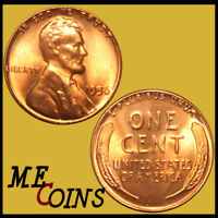 1956 Lincoln Wheat Cent Penny , GEM BU Red , US Coin , Free Shipping!