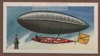 1901 Santos Dumont Flies Around The Eiffel Tower Vintage Trade Card