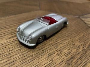 De Agostini Porsche 356 N1 Roadster 1948 Silver 1/43 Diecast Scale Model