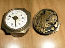 1 Petit Reveil Horloge  Cadran Emaillé - Ancien