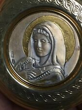 Italy/Florence Made Christmas Ornament of Mary - Sterling face,nice!