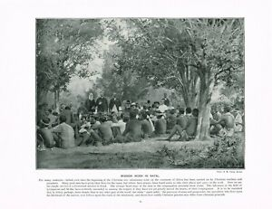 Missionary Work In Natal Africa 1897 Antique Print Victorian Picture TQE#63