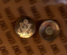 """US Army Enlisted Service Cap hat badge 1 3/4"""" brass EM HB"""
