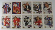 1991-92 Upper Deck Brett Hull Heroes Hockey Insert Set (9) Nm/Mt
