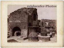 Pompei, Casa con forno e mulini, Brogi, Original-Albumin-Foto von ca. 1880