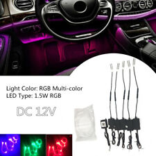 1.5W RGB LED Car Decor Atmosphere Light Kit APP Bluetooth Control 6M Optic Fiber