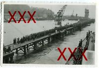 KREUZER KARLSRUHE - orig. Fotografie, 9x14 cm, Blücher-Brücke, 22. Okt. 1934