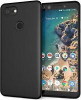 For Google Pixel 3 XL Case Slim Soft Silicone Gel Cover - Matte Black
