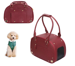 NEW PetsHome Dog Carrier **Wine Red** Luxury Tote for your Furry Friends
